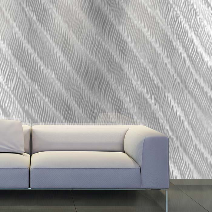 White Couch- CNC Ripples