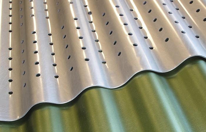 Corrugated metal, designer metal, moz designer metals