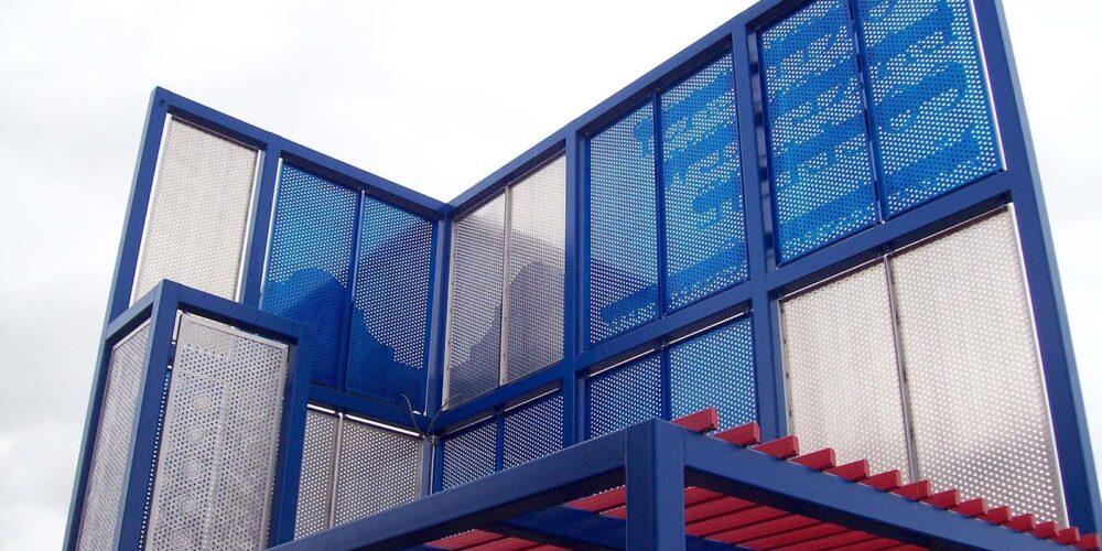 Perforated Aluminum, Corporate, Exteriors, Moz Designer Metal