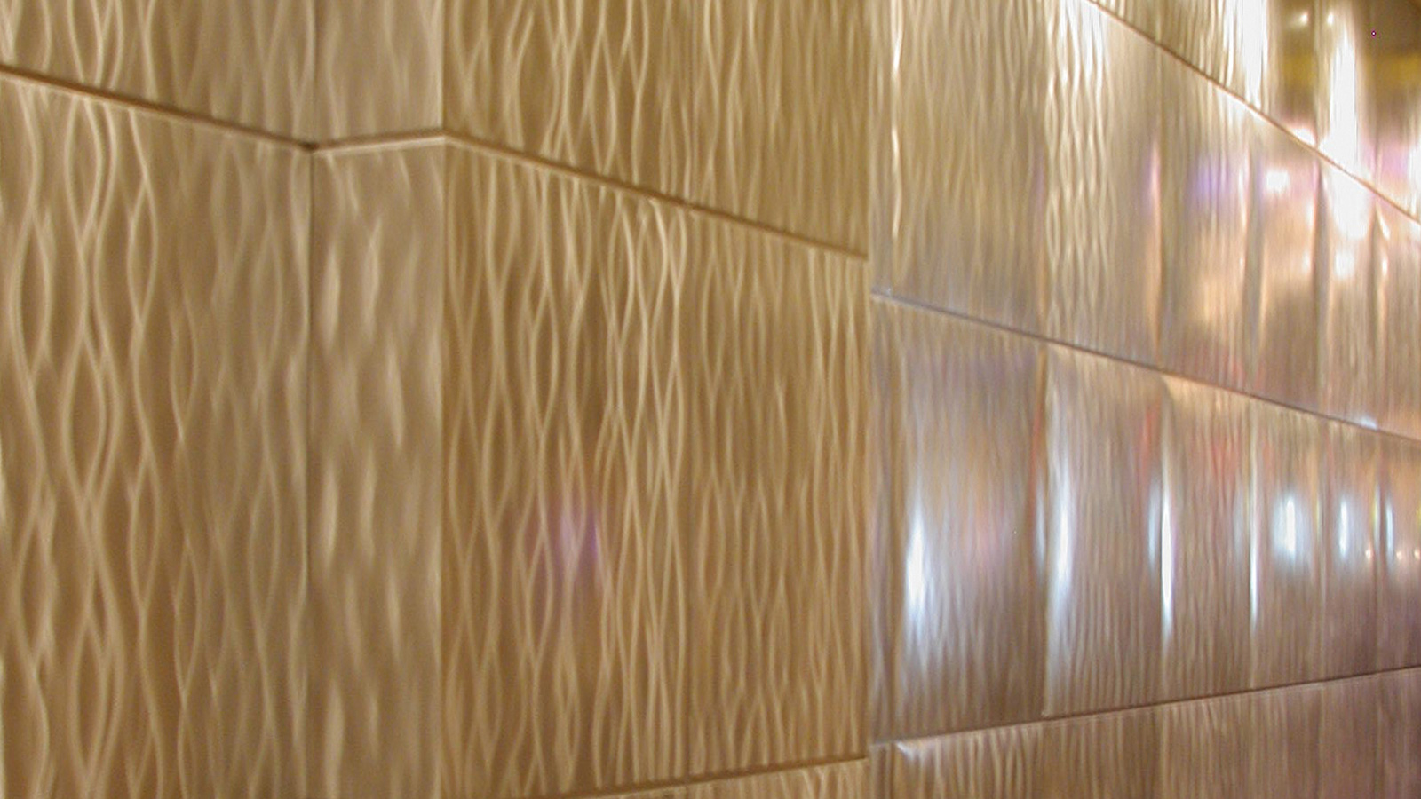 Moz Designer Metals, Keyway Wall Panels, Interior Design, Architecture