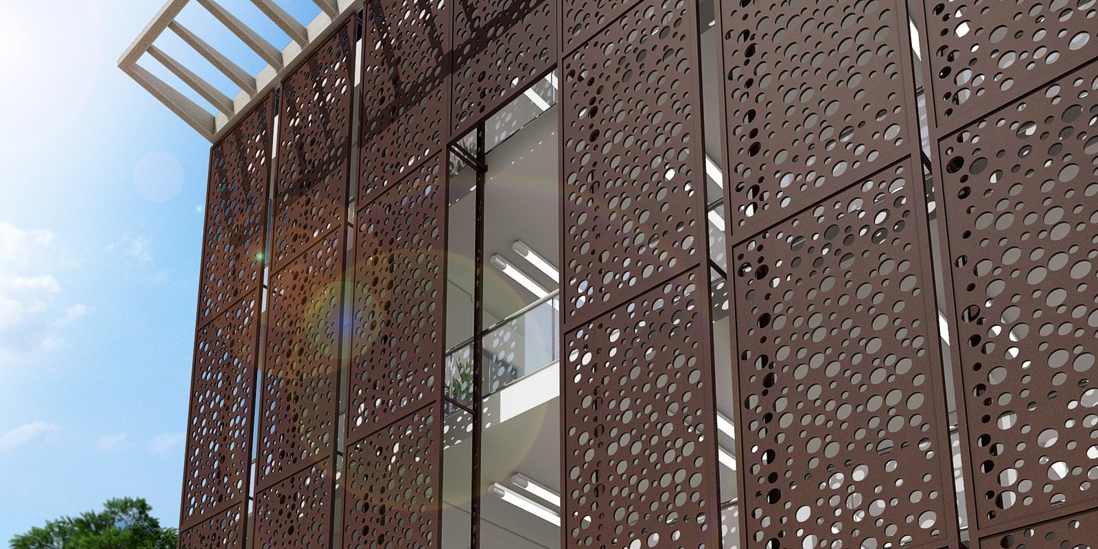 Laser-Cut Collection, Designer Metal, Hospitality, Exterior
