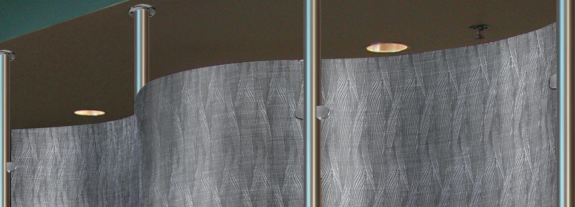 Metal Room Divider, Perforated, Moz Designer Metals
