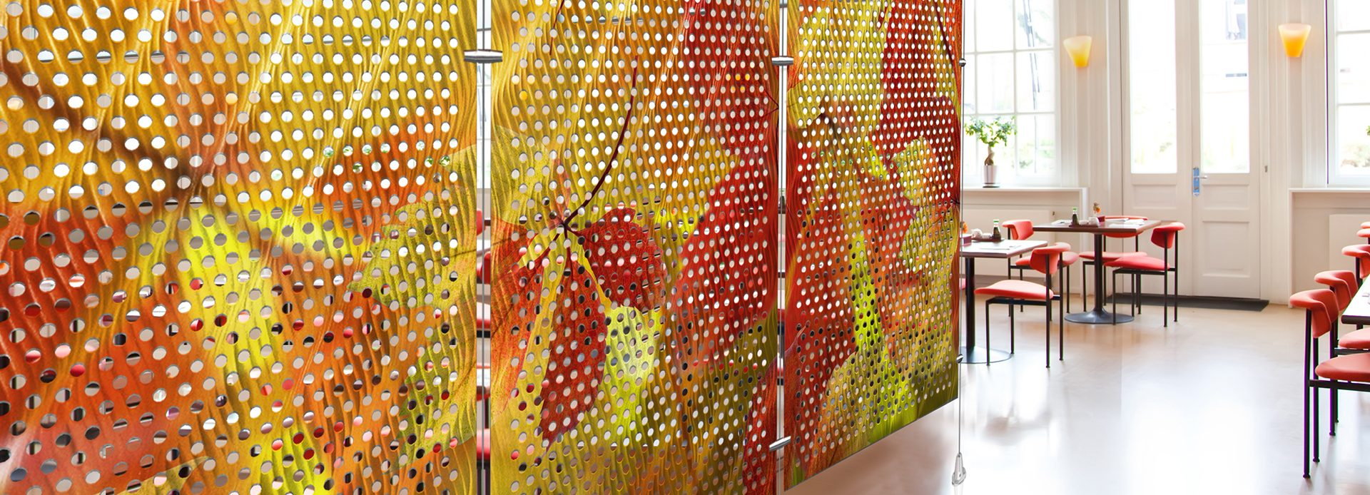Metal Room Divider, Perforated, Moz Designer Metals