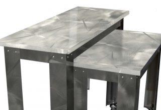 Moz Designer Metals, Fixtures, Table Tops, Signage