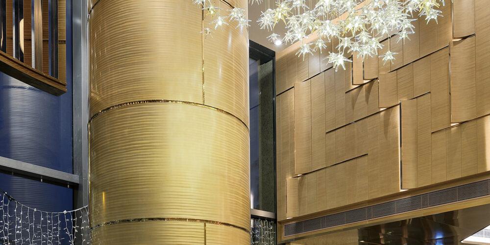 Column Metal, Round Column, Hospitality, Moz Designer Metal