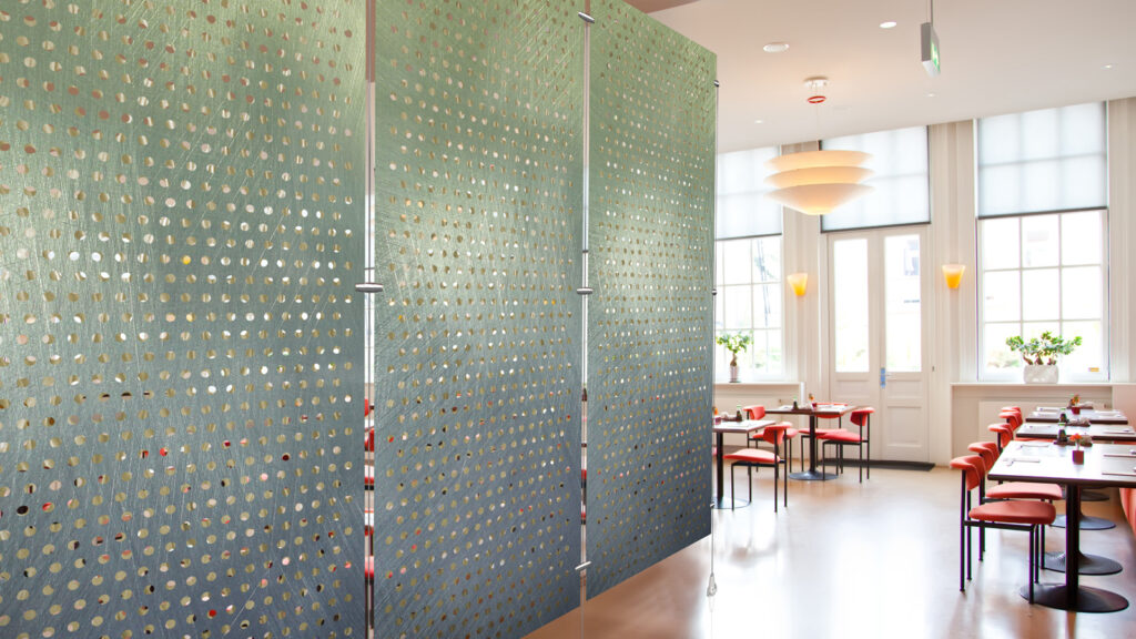 Metal Room Divider, Perforated, Moz Designer Metals, Digital Imagery
