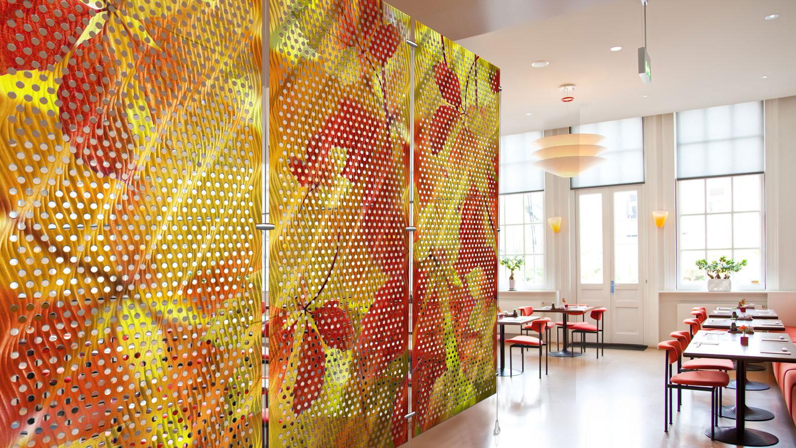 Metal Room Divider, Perforated, Moz Designer Metals, Digital Imagery