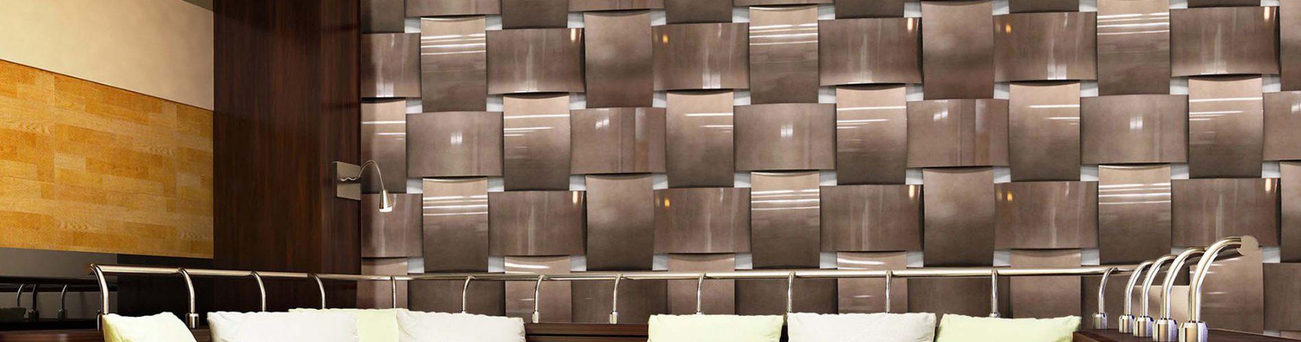 Basket Weave, Weave Wall, Tides, Dimensional Walls, Moz Designer Metals
