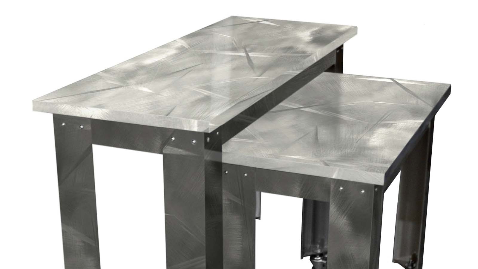 Moz Designer Metals, Fixtures, Table Tops, Signage