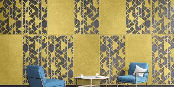 Brass Laser Cut Deco Pattern Wall