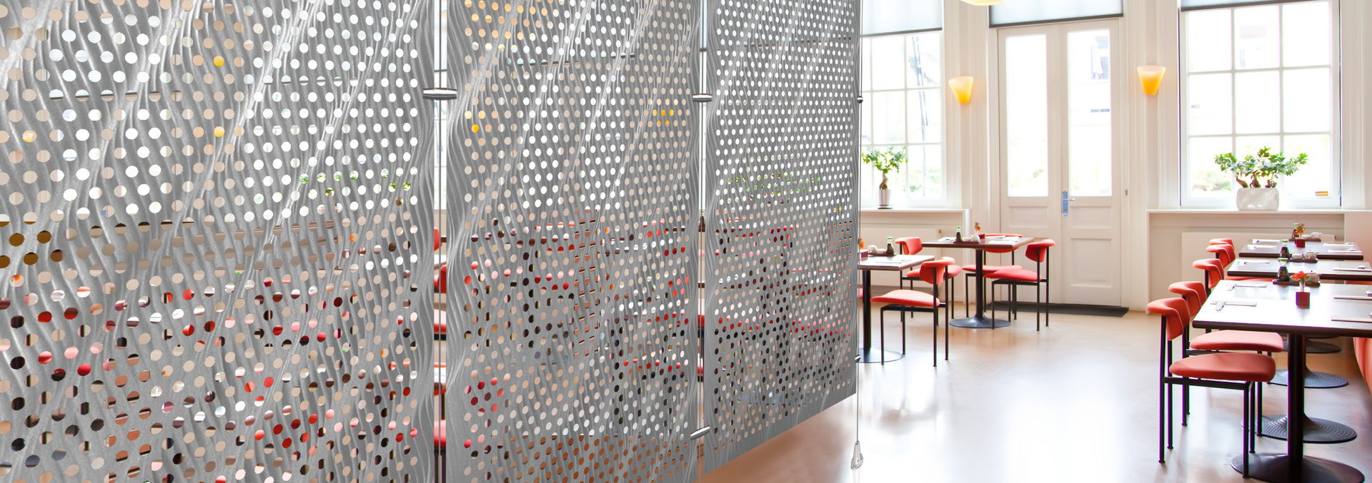 modern stylish wall in restaurant interior